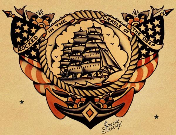 Tattoo design idea pictures: My Sailor Jerry swallow on my ...
