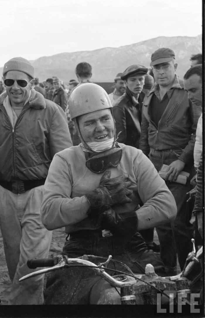 Our Hero on the left.  Not the Mulligan on the bike.