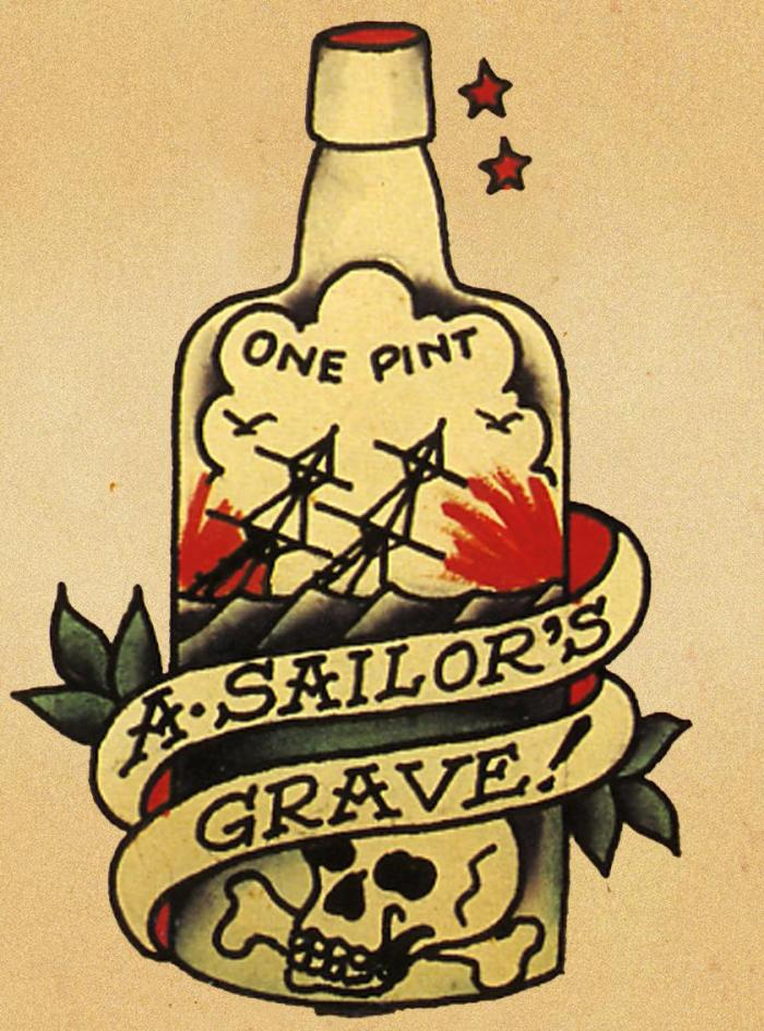 sailor jerry tattoos bottle
