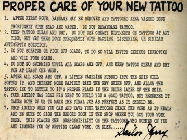 sailor jerry tattoos care