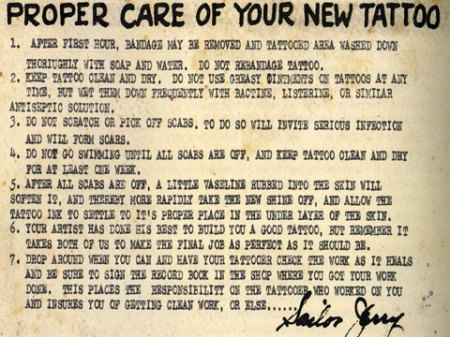 Originally there were few colors available to tattoo artists-- Sailor Jerry
