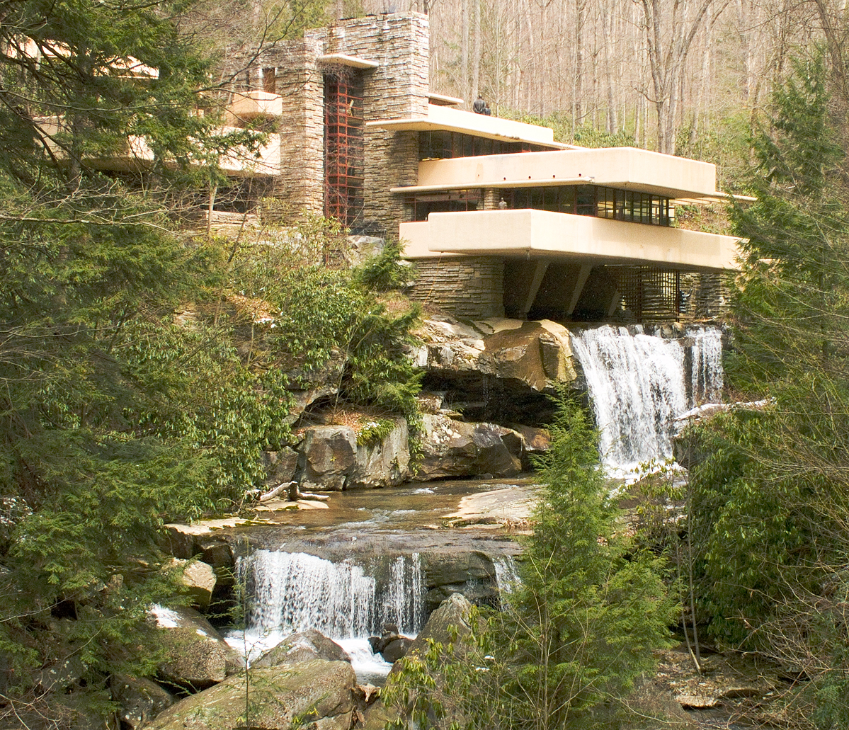 The world is not enough frank lloyd wright the greatest for House built on waterfall