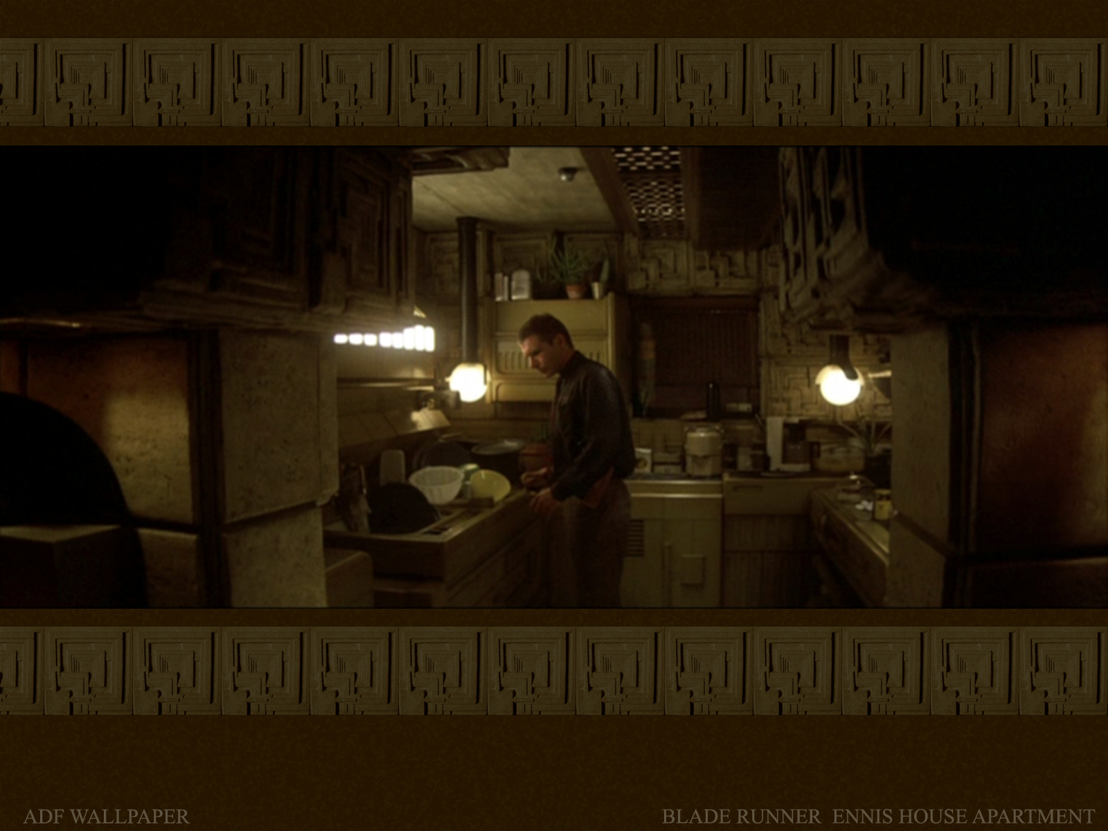 of Deckard's apartment in the classic Ridley Scott film Blade Runner.