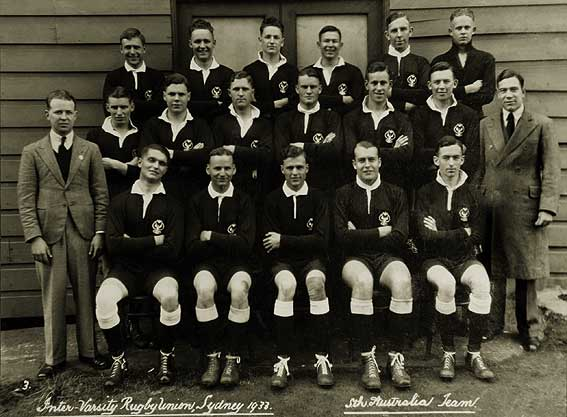 vintage rugby football team
