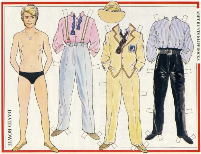 David Bowie Paper Doll