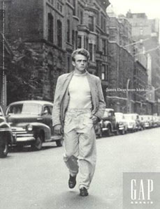 james dean gap khaki ad