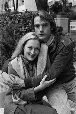 With Meryl Streep-- 1981.