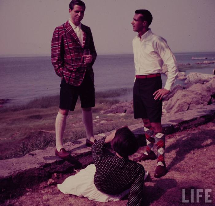 bermuda shorts menswear 50s fashion