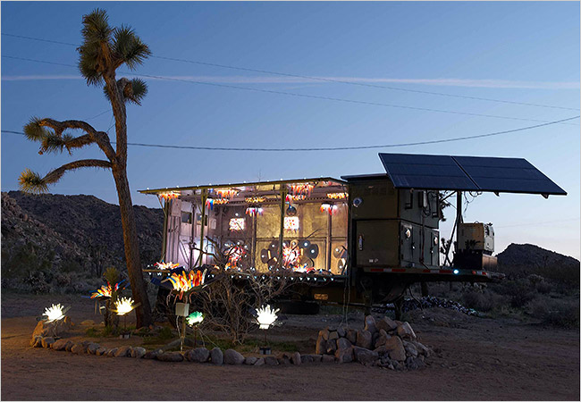 Joshua Tree trash house artist