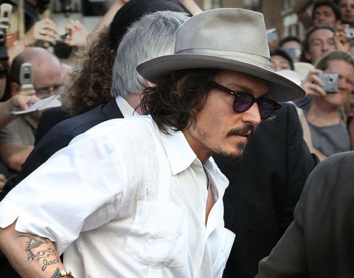 Johnny Depp white shirt