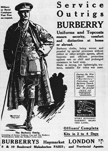 burberry print ad trench coat
