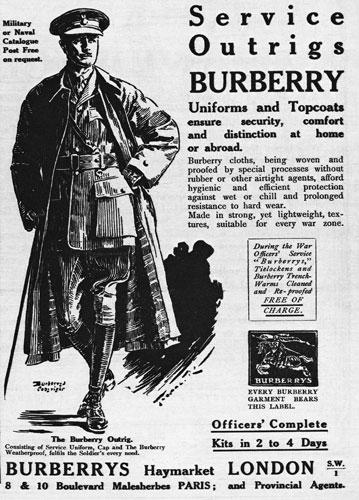 burberry print ad trench coat