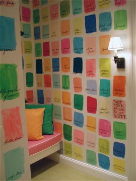Lilly Pulitzer Pantone fitting room