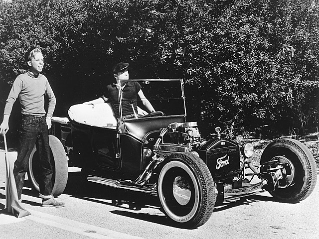 """Tony Ivo and his T-Bucket were featured in the Hollywood production """"Dragstrip Girl"""". Ironically, Ivo played the heavy in the movie, and the script called for him to steal his own car."""