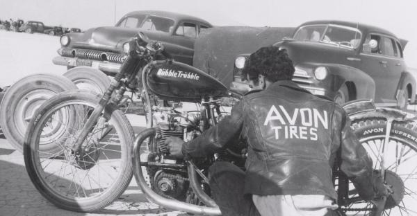 Triumph dubble trubble motorcycle