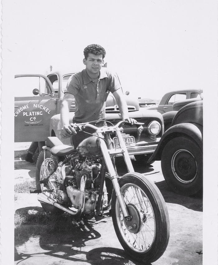 1950s motorcycle drag race