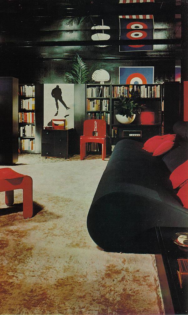 retro listening room den