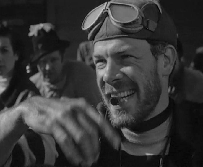 Lee Marvin in his iconic role-- Chino from The Wild One.  Marlon rode a triumph (his own) but Lee rode a Harley.