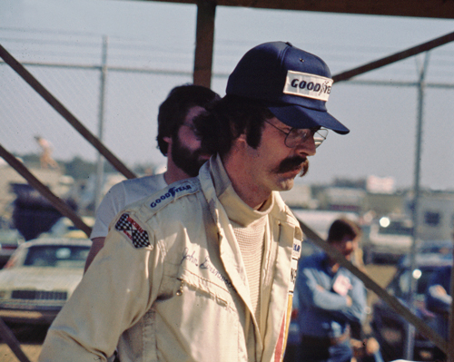 Legendary Corvette driver John Greenwood seen here at the 1976 24 Hours of Daytona. When the 1970's energy crisis almost put an end to the 1975 Sebring Race he came up with the sponsorship to save the race.  This look is so 70s man-- that's all I have to say.