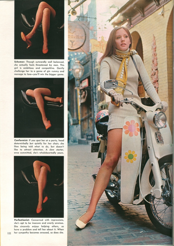 Vintage playboy language of legs the stuff of male sexual delusions.