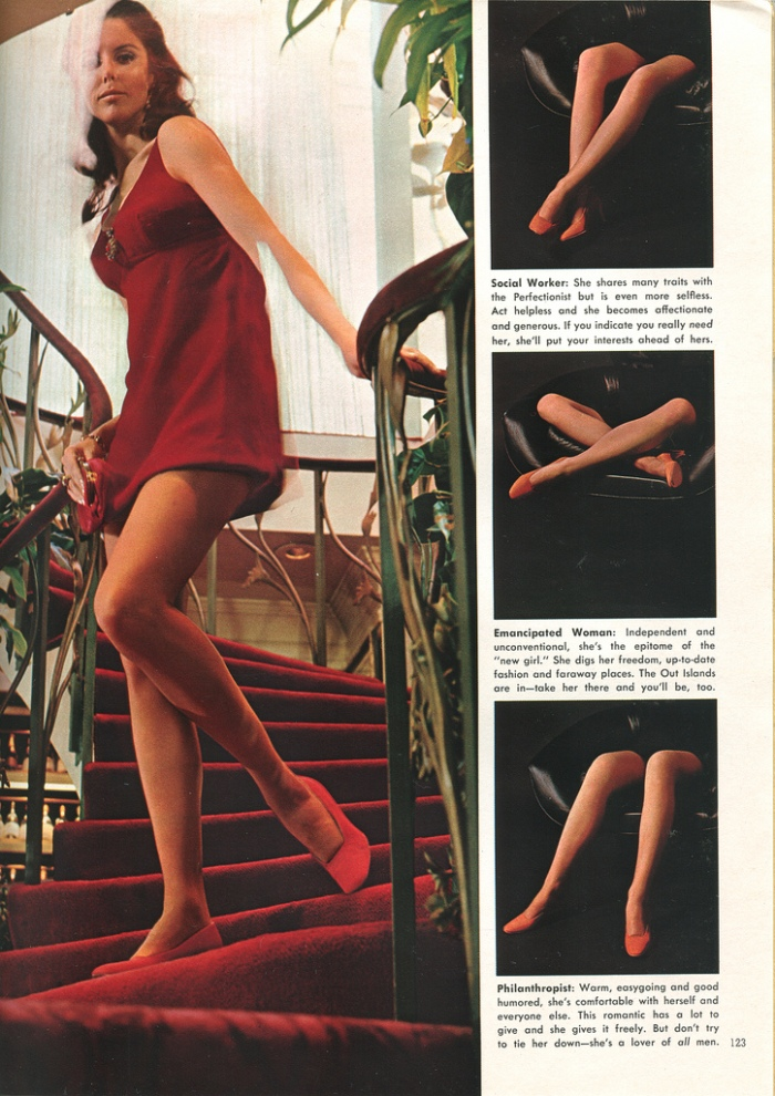vintage playboy magazine language of legs