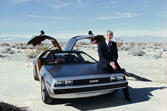 John DeLorean and His Famous DeLorean Car-- March, 1979.