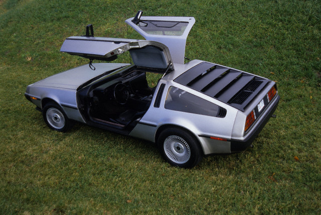 1981 DeLorean with gullwing doors open