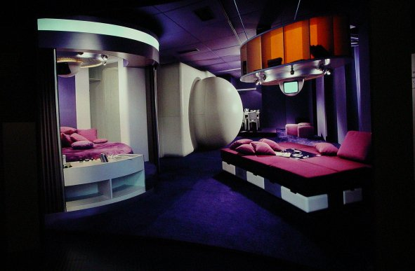 retro 60s futuristic pad
