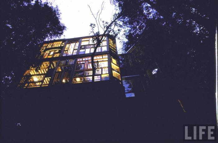 An incredible view of the home from outside below.