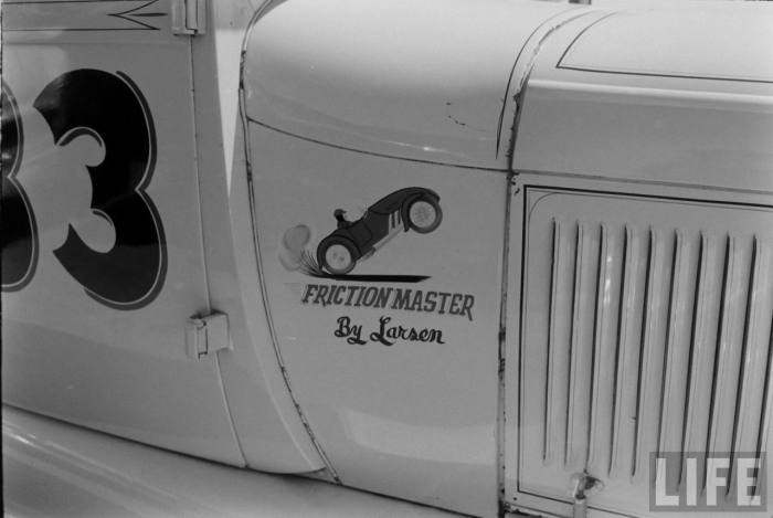 """Friction Master"" at the Santa Ana Drags-- late 50s."