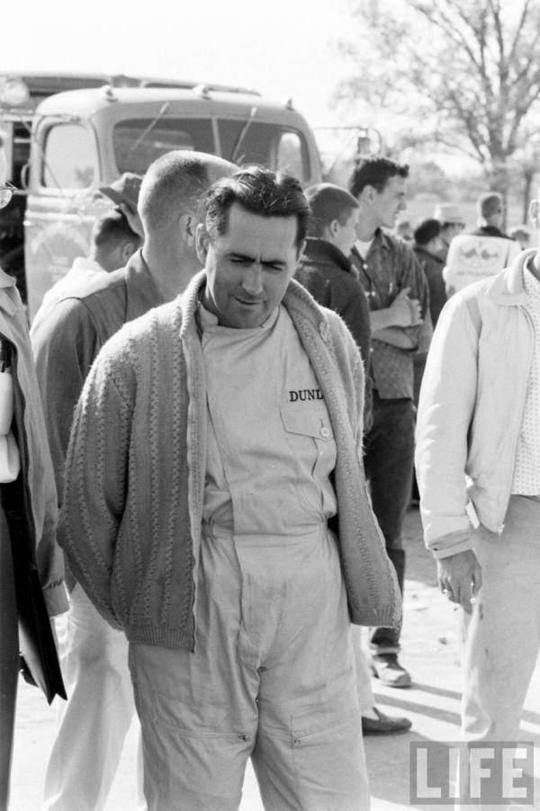 Australian Driver Jack Brabham also in a sweater-- 1961.