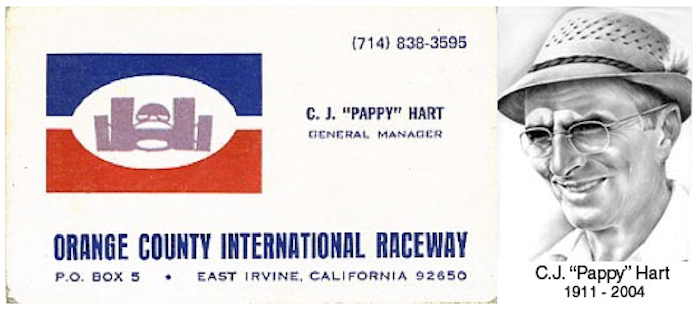 CJ PAPPY HART ORANGE COUNTY INTERNATIONAL RACEWAY