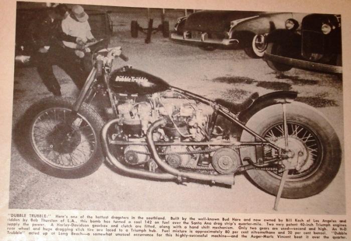 Triumph Dubble Trubble drag bike