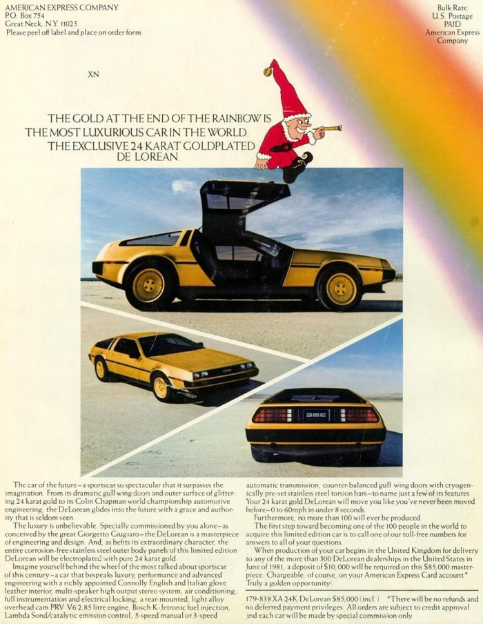 John DeLorean gold d1x1