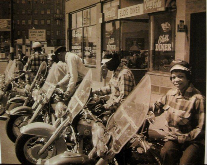 vintage black bikers