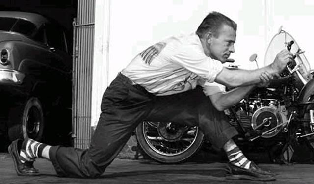 Kenny Howard, AKA Von Dutch in a great vintage shot.