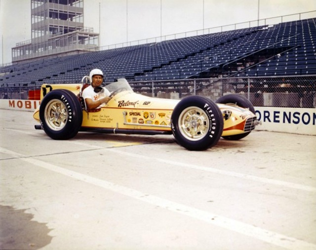 Jimmy Bryan neared a race speed of 134 mph when he won the Indy 500. It was a back-to-back victory for the innovative Belond Exhaust car.