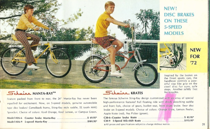 Vintage Schwinn Stingray bicycle ad.