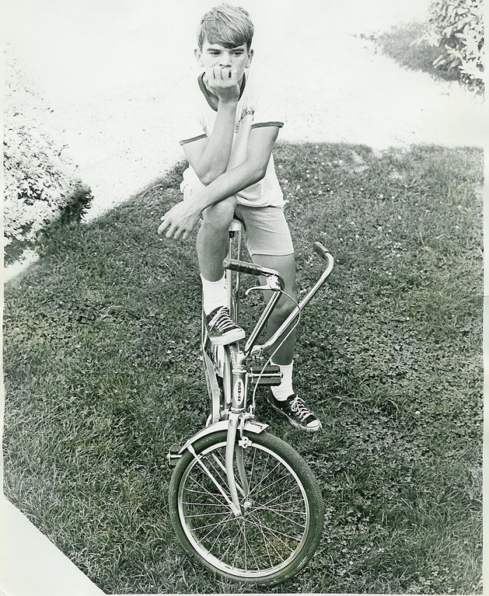 The Schwinn Stingray- sparking a boy's love affair with wheels.