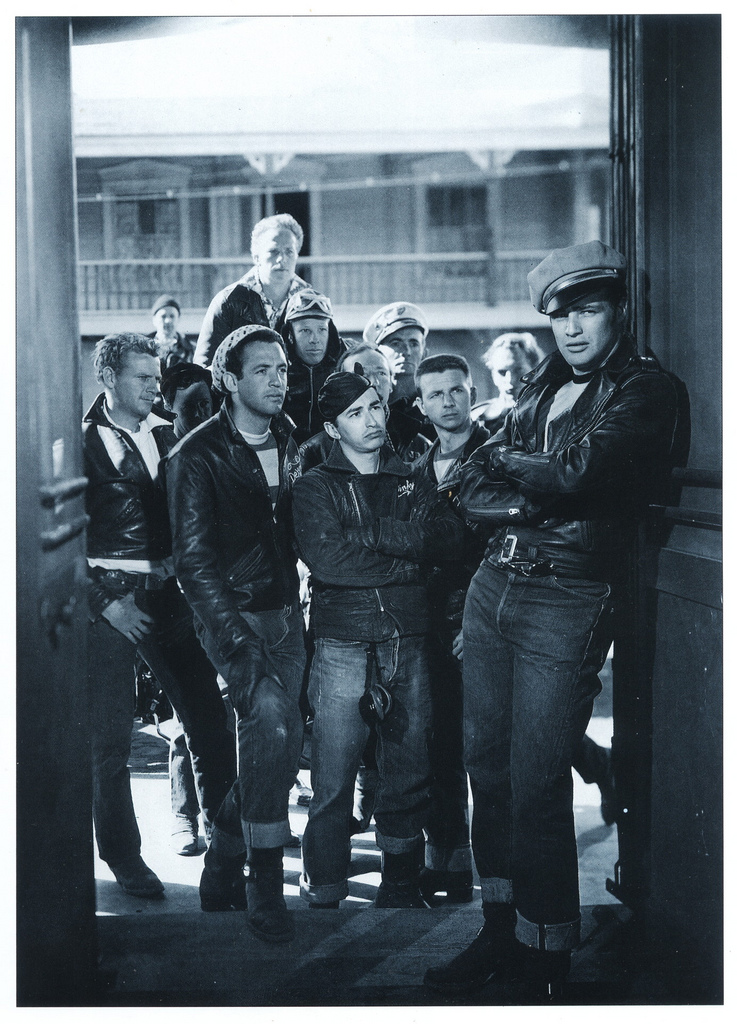 Marlon Brando (and gang) as Johnny in 1953's The Wild One.