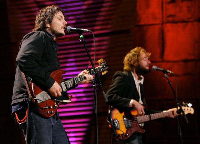 Jeff Tweedy and John Stirratt of Wilco perform during the 20th anniversary Farm Aid concert in Tinley Park, 2005.