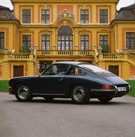One of the most influential cars of the twentieth century - the rear engined Porsche 911 began production in 1964. --- Image by © Car Culture/Corbis