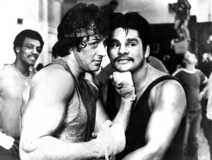 "Sylvester ""Sly"" Stallone and boxing great Roberto Duran back in the Rocky days."