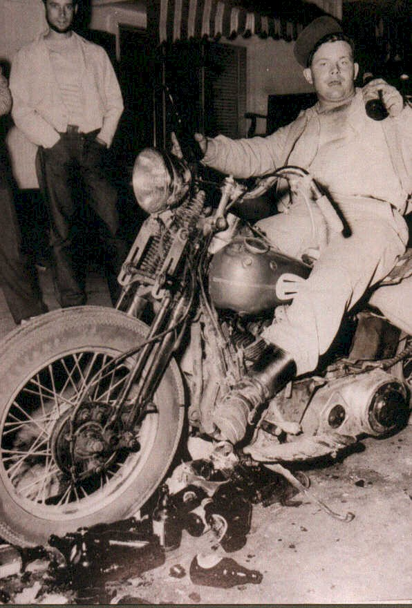 LIFE magazine's infamous 1947 photo that fueled the Hollister biker stories and legends.