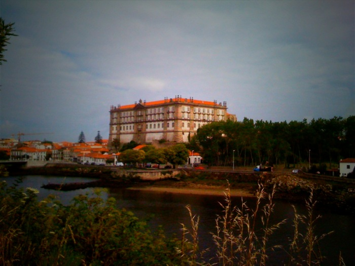 View from the hotel deck in Vila do Conde