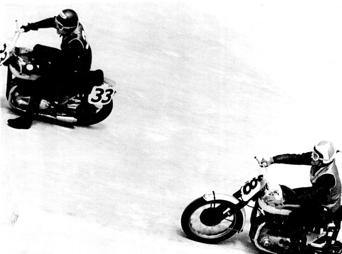 The Kretz racing legends running side by side.