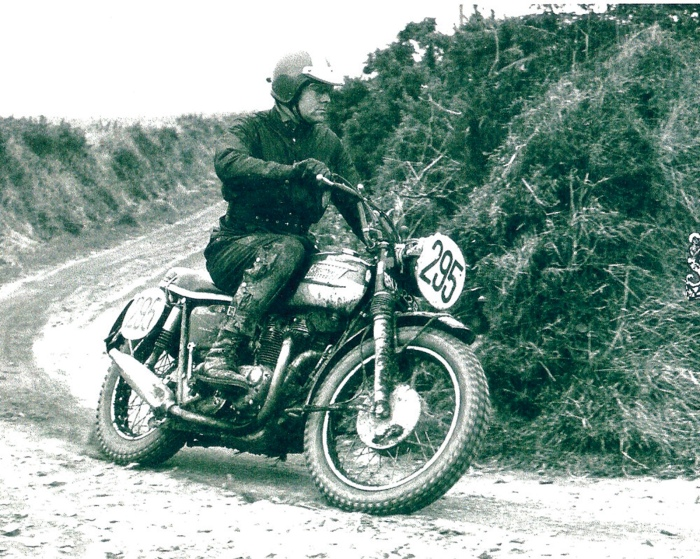 Ed Kretz Jr. raced screen legend Steve McQueen's Triumph at the 1965 International Six-Day Trials in England.