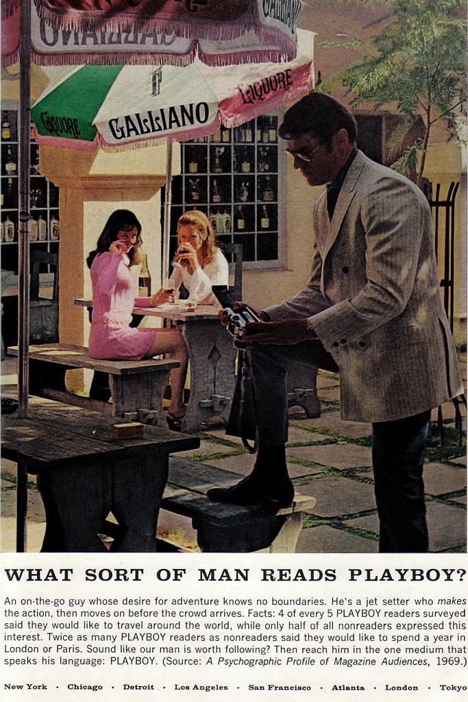 Vintage Playboy magazine ad
