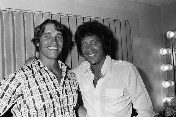 Arnold Schwarzenegger and Tom Jones --1977.