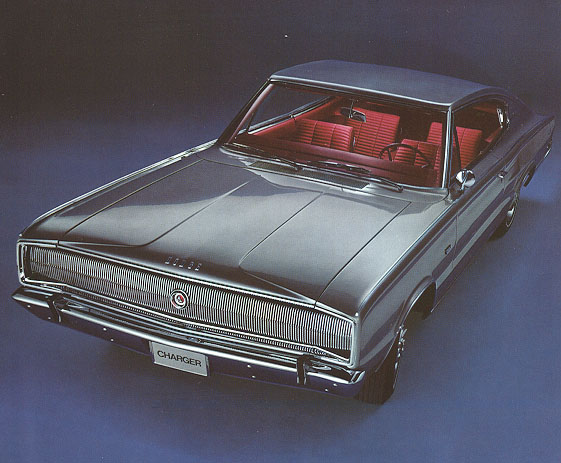 1966 Dodge Charger fastback with concealed headlamps.